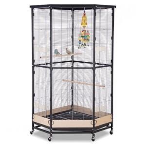 Schöne Vogelvoliere kaufen für Eckplatz - Villa Esquina von Montana Cages